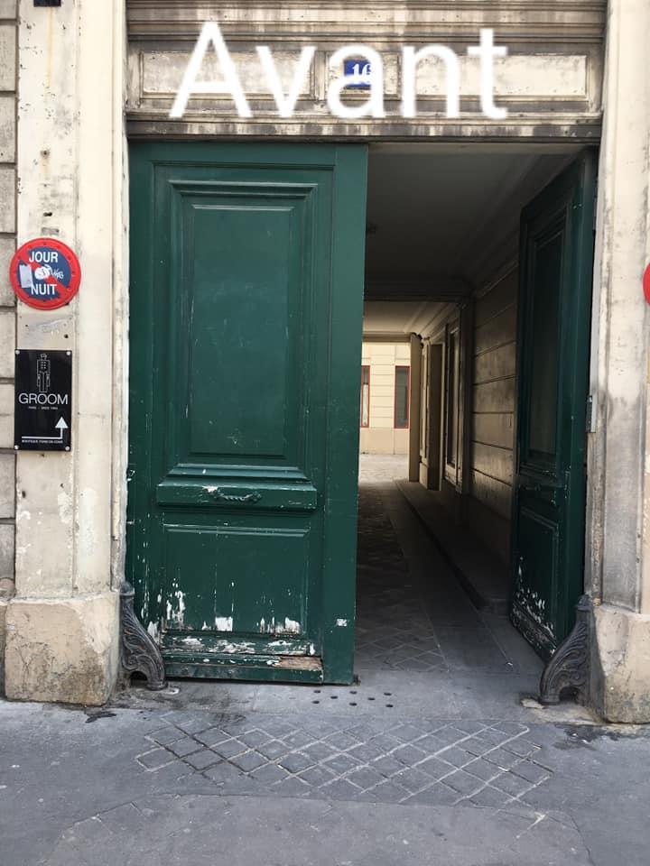 Porte cochère en bois à Paris à restaurer
